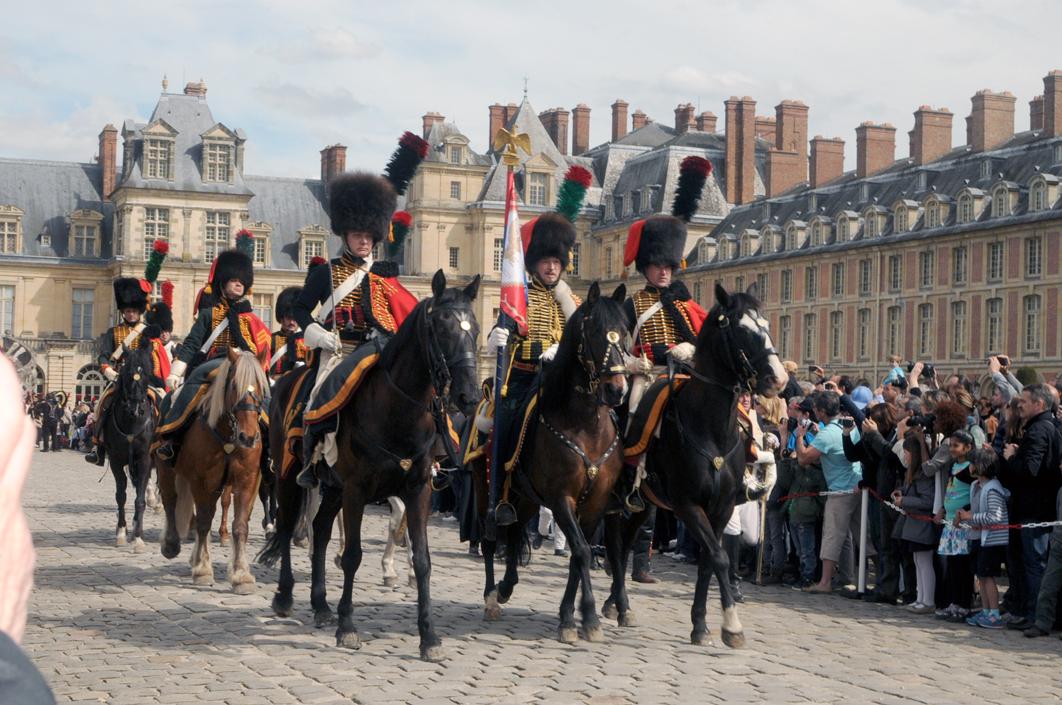 La garde au Guidon du 10ème escadron des Chasseurs à Cheval