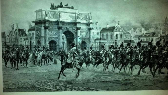 LES CHASSEURS AU LOUVRE 1815