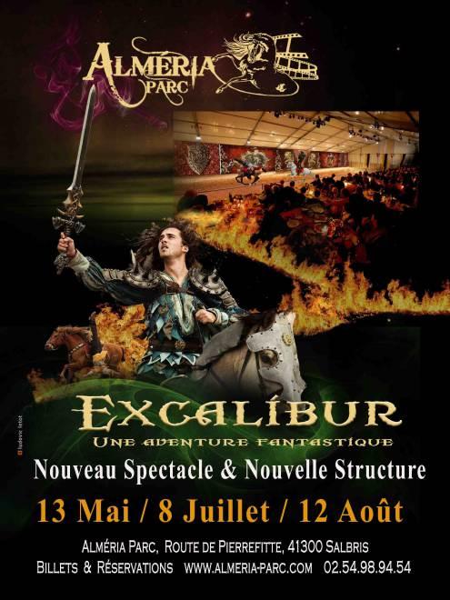 Excalibur spectacle equestre medieval nouveaute almeria parc salbris sologne